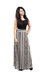 Fadjuice Women's Skirt (43581X_Black White_X-Large)