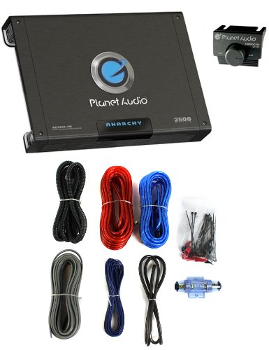 Planet Audio Ac2500.1M 2500W Mono A/B Car Amplifier Audio Ac25001M+ 8 Ga Amp Kit