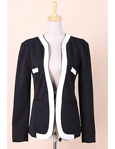 CBIN&HUA New Fashion vestito da donna Blazer Color Block Slim cappotto tasca della tuta sportiva , white-m , white-m