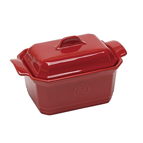 Emile Henry Natural Chic Terrine - 5 × 6 - Brick Red