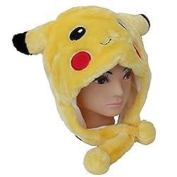 LightYear Plush Fur Anime Pokemon Pikachu Children Kids Adult Winter Hat Cap