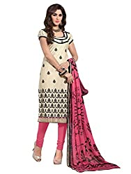 Fabnil Embroidered Dress Material Suit