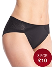 No VPL High Leg Textured Knickers