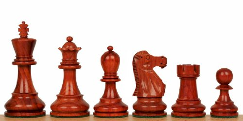 The Chess Store Deluxe Old Club Staunton Wood Chess Set with Ebony & African Padauk Chess Pieces - 3.75 King chess