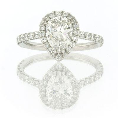 2.10ct Pear Shape Diamond Engagement Anniversary