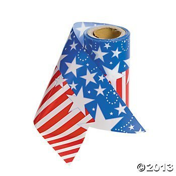 Plastic Patriotic Streamers/Streamers/4th of July/Decoration/Party Supplies