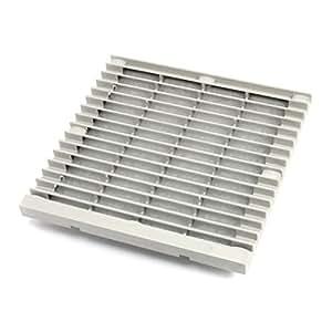 204mm x 204mm Plastic Cabinet Washable Axial Flow Fan Foam Dust Filter