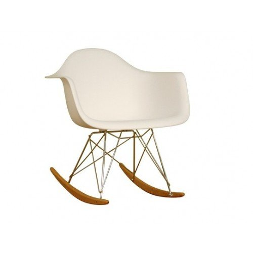 molded plastic rocking chair in white feature steel base abs plastic ...