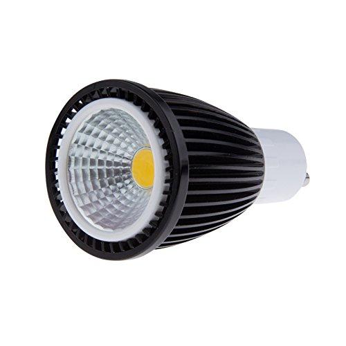 Sunsbell®High Power 7W Gu10 Cob Led Bulb 50W Equivalent Recessed Lighting Tracking Lighting Warm White(Black)
