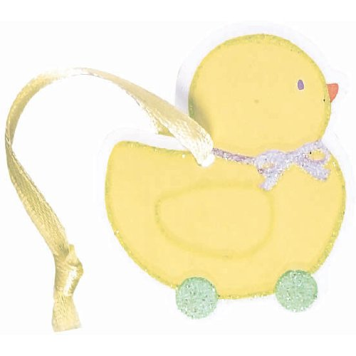 Glitter Duck Favor Tags 12Ct