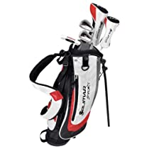 Orlimar VT Sport Junior Complete Golf Set (White/Red, Ages 6-8, Right Hand, Driver, Hybrid Iron, 5/6 Iron, 6/PW, Putter, Bag)