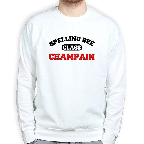 Mens Spelling Champion Funny Sarcastic Joke Sweatshirt S White