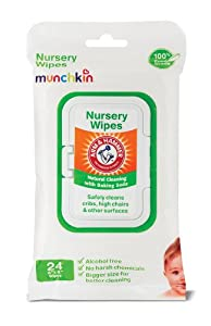 Munchkin 24 Pack Arm and Hammer Nursery Wipes, White (Packaging may vary) (Discontinued by Manufacturer)