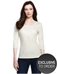 Plus Pure Cotton V-Neck Top with StayNEW™