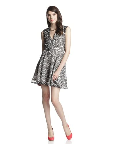 French Connection Women's Feline Wonder Fit-and-Flare Dress