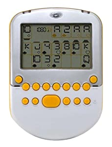 Big Screen Solitaire - White/ Silver with Yellow Accents