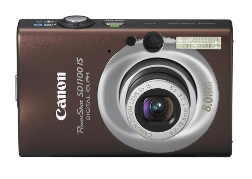 Canon PowerShot SD1100IS 8MP Digital Camera with 3x Optical Image Stabilized Zoom (Brown)