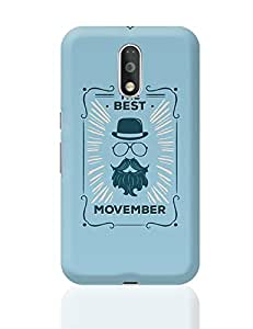 PosterGuy Moto G4 Plus Covers & Cases - The Best Movember - Blue Hipster | Designed by: Codeburnerz Technologies
