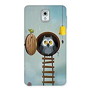 Special Raining Leader Owl Back Case Cover for Galaxy Note 3