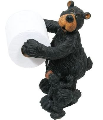 Low Cost Willie Black Bear With Cub Free Standing Toilet