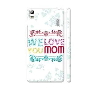 Colorpur We Love You Mom Artwork On Lenovo K3 Note Cover (Designer Mobile Back Case) | Artist: Designer Chennai