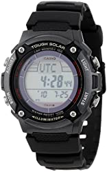 """Casio Men's WS200H-1BVCF """"Tough Solar"""" Sport Watch with Black Resin Band"""