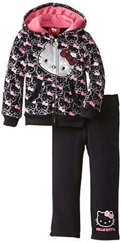 Hello Kitty Little Girls' Active Set, Anthracite, 4T front-895369