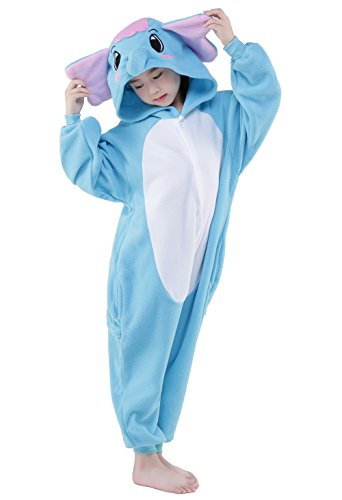 NEWCOSPLAY Children Onesie Cosplay Costume Pajamas (XL, Blue Elephant) (Elephant Kids Costume)