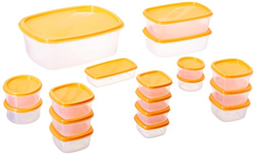 Princeware SF Package Container Set, 18-Pieces, Orange