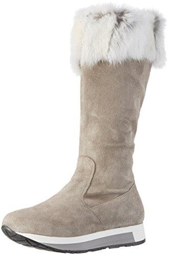 MANAS ANTIBES - Stivali alti imbottiti caldi Donna, colore Grigio (fumo), taglia 36 EU