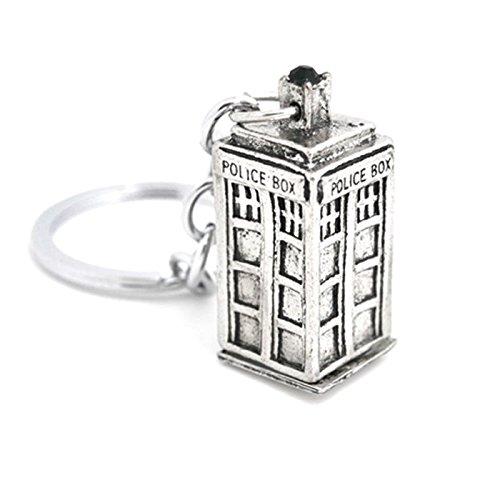 DR WHO Tardis, ispirato a catena in argento, maglia a due opzioni: Police Box