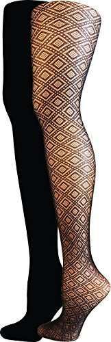 isaac-mizrahi-new-york-womens-diamond-textured-tights-2-pack-black-medium-large