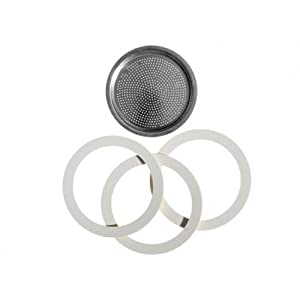 Bialetti Moka Express Replacement Seals and Filter (3 cup) from Bialetti