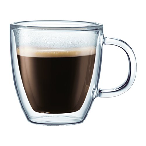 Bodum Bistro Double-Wall Insulated Glass Espresso Mugs, Set of 2 (Double Wall Cup compare prices)