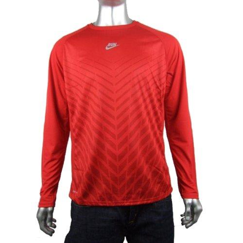 Mens New Nike Dry Dri FIT Running Long Sleeve Shirt Top