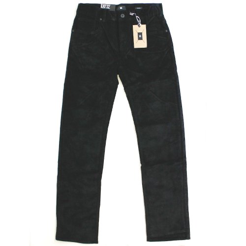 DC Mens Straight Cord Trousers - Black (36