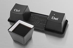 Keyboardtassen CTRL + Alt + DEL Tassenset Kaffeetassen Teetassen Tassen Set - schwarz
