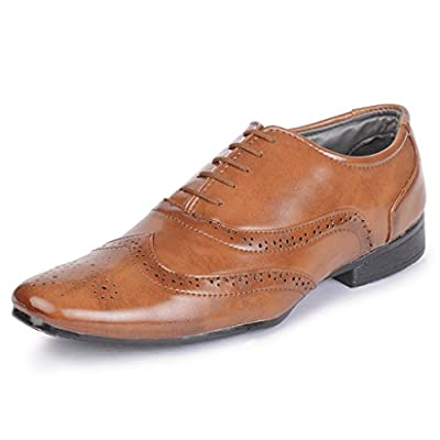 Semana Men's Patent Leather Formal Shoes