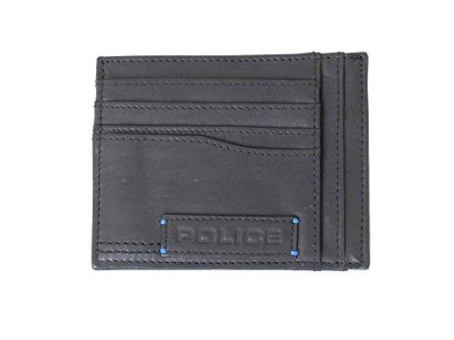 Police Porta carte di credito in pelle di colore nero