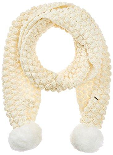 Sciarpa Superdry Bobble-Stitch Fur Pompom Rich Cream