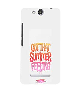 EPICCASE Summer Feeling Mobile Back Case Cover For Micromax Canvas Juice 3 Q392 (Designer Case)