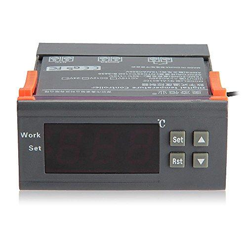 Lcd Digital Temperature Control Controller Thermostat Aquarium Sensor Ac 220V
