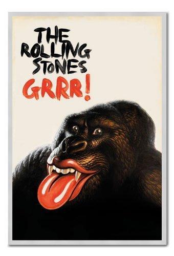 Rolling Stones Grrr. poster Argento con cornice & Raso Matt Laminato-96.5x 66cms (circa 96,5x 66cm)