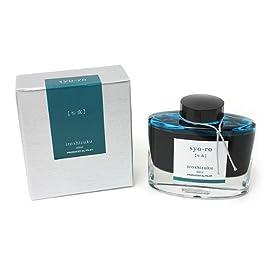 Pilot Iroshizuku Fountain Pen Ink - 50 ml Bottle - Syo-ro Pine Tree Dew (Gray Turquoise) (japan import)