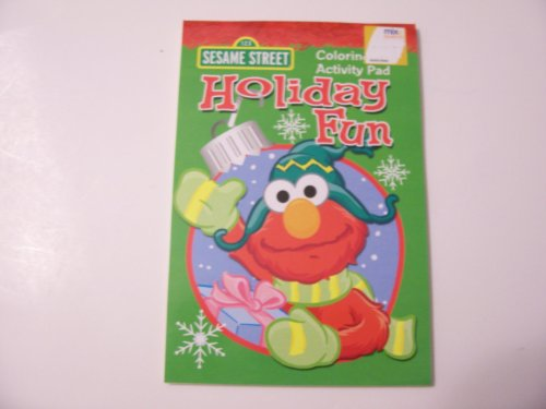 Sesame Street Coloring & Activity Pad ~ Christmas Edition Holiday Fun (Elmo Cover)
