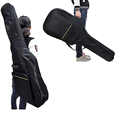 Puregadget(c) Full Size Padded Protective Waterproof Classical Acoustic Guitar Back Bag Carry Case - Black