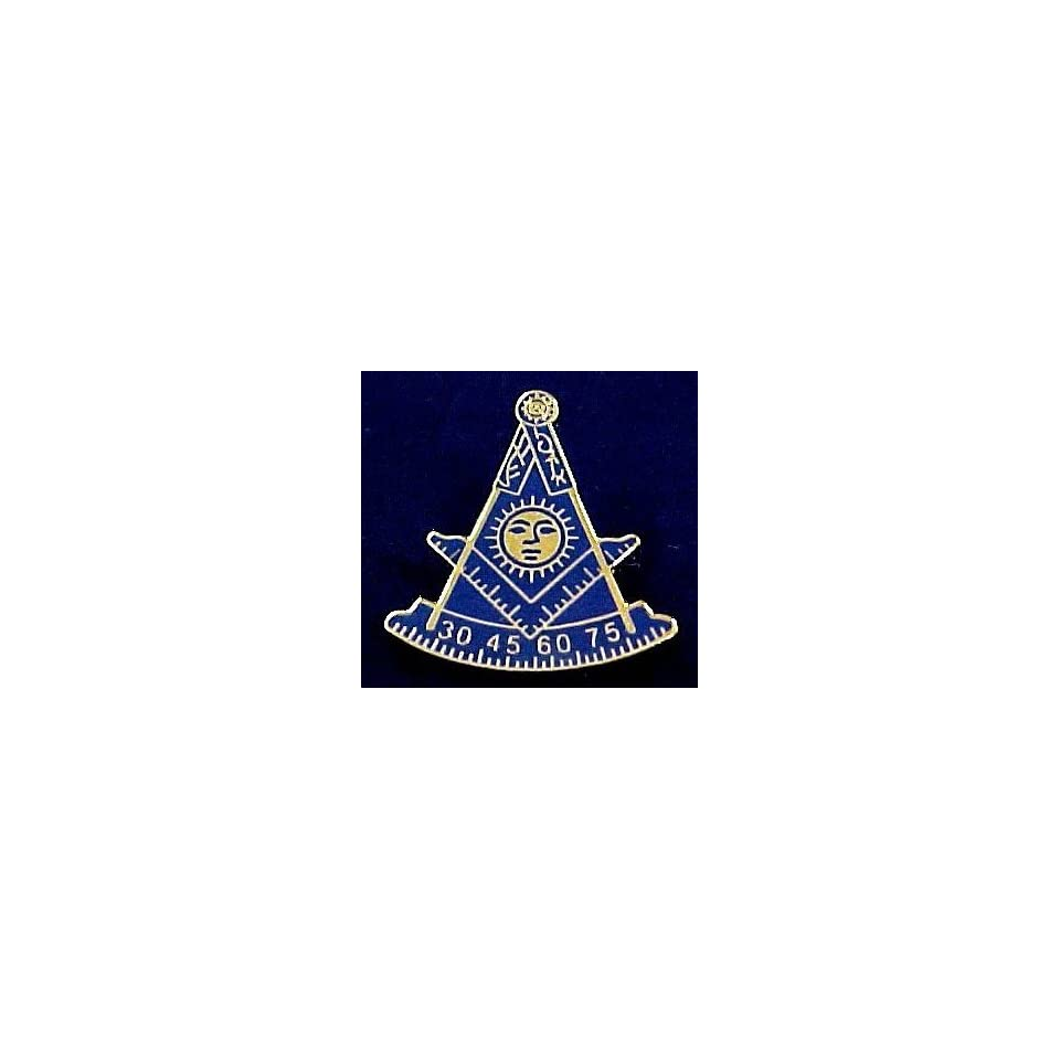 1/2 INCH Past Master Masonic Freemason AF & AM Square & Compas Hat Tie or Lapel Pin 1/2 INCH