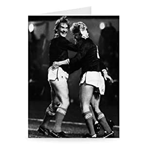 Kenny Dalglish - Scotland - Greeting Card Pack Of 2 - 7x5 Inch - Art247 - Standard Size - Pack Of 2