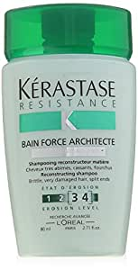 Kerastase Resistance Bain De Force Architecte Reconstructing Shampoo, 2.71 Ounce