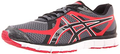 ASICS Men's GEL-Extreme33 Running Shoe,Titanium/Black/Red,8 M US
